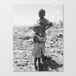 Garbage Slum Canvas Print