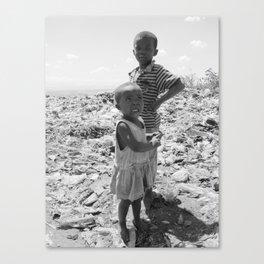Garbage Slum Canvas Print