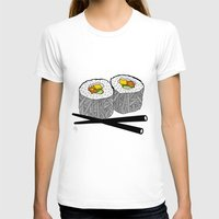 sushi T-shirts featuring Sushi by Amber Lily Fryer