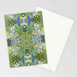 Garden Party - moss and mint Stationery Cards