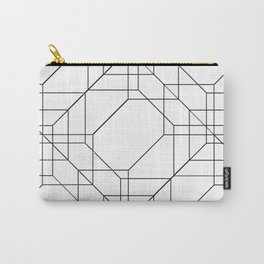Geometric Glitch Lines - Blow Up Carry-All Pouch