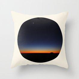 Orange & Blue Sunset Over The Australian Outback Round Photo Throw Pillow