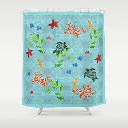 zakiaz enchanted sea Shower Curtain