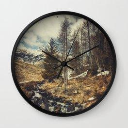 Mountain spring Wall Clock