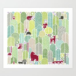 Welcome to the forest! Art Print