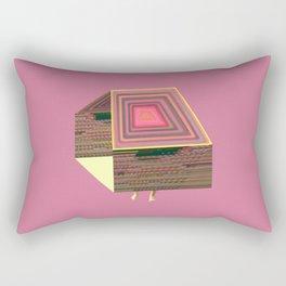 Pink Virtual House Rectangular Pillow