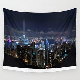 Hong Kong- Victoria Peak Wall Tapestry
