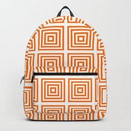 Orange Squares Backpack