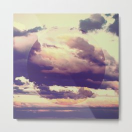 Abstract Boho Clouds Metal Print