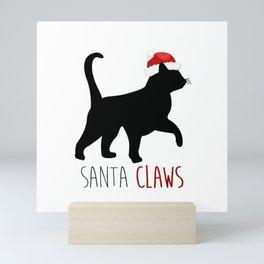 Santa Claws Mini Art Print