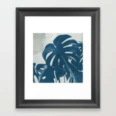 Blue Monstera #2 Framed Art Print