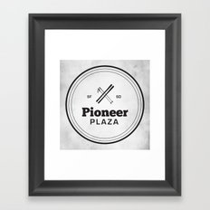 Pioneer Plaza Framed Art Print