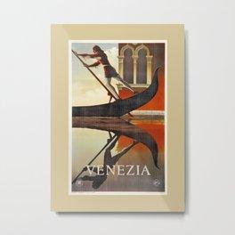Venice history, gondola Metal Print