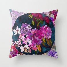 Purple Globes of Rhododendron  Throw Pillow