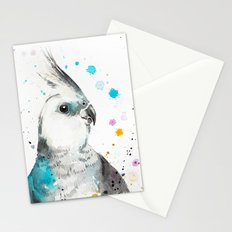 Cockatiel parrot Stationery Cards