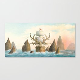 The Antlered Ship - Jacket Canvas Print
