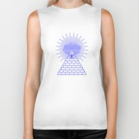 evil eye Biker Tanks featuring EVIL EYE by Anna Lindner