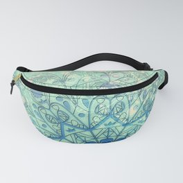 Mandala in Sea Green and Blue Fanny Pack