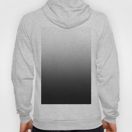 White to Black Horizontal Linear Gradient Hoody