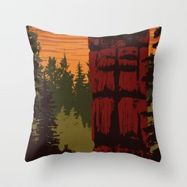 Gwaii Haanas National Park Reserve, National Marine Conservation Area Reserve & Haida Heritage Site Throw Pillow
