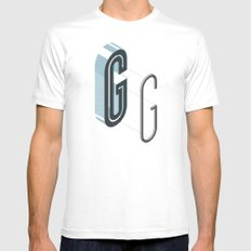 The Exploded Alphabet / G MEDIUM White Mens Fitted Tee
