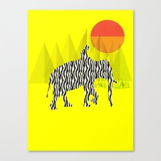 Zelephant - Mahout & Elephant Canvas Print