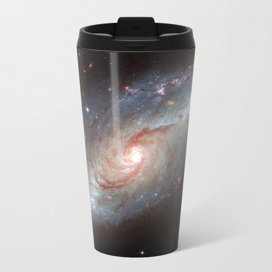Barred spiral galaxy Metal Travel Mug