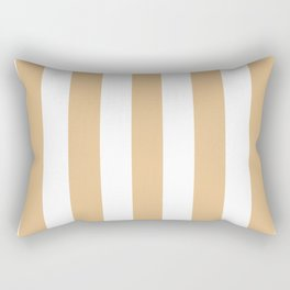 Pale gold pink - solid color - white vertical lines pattern Rectangular Pillow