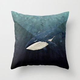 Everett's Whale Throw Pillow