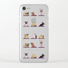 Frenchie Yoga Clear iPhone Case