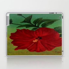 Red hibiscus Laptop & iPad Skin