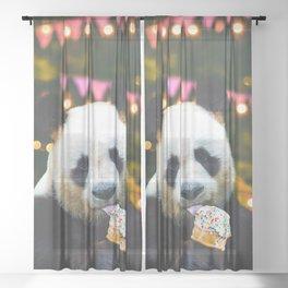treat yo' self Sheer Curtain