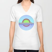 lake V-neck T-shirts featuring LAKE by Liam Brothers