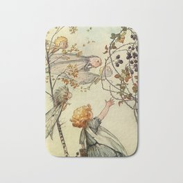 """""""Bother the Wind"""" by Duncan Carse Bath Mat"""
