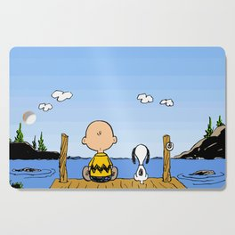 Charlie Brown Snoopy On Dock Cutting Board