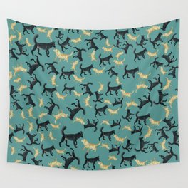 Romeo the wolf & Juliet Pattern Wall Tapestry