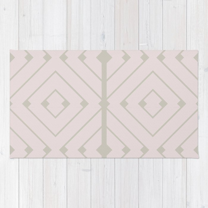 MONO:CHROMA Geometrica Earthy Pink II Rug