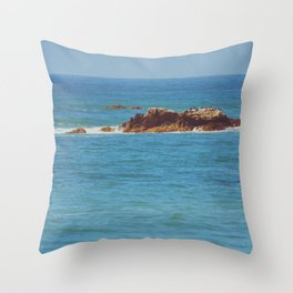 California Shoals Throw Pillow