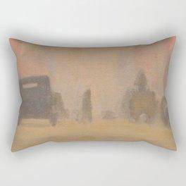 City Street Melbourne - Clarice Beckett - Australian abstract Realism Rectangular Pillow
