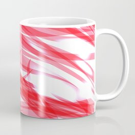 Red and smooth sparkling lines of pink ribbons on the theme of space and abstraction. Coffee Mug