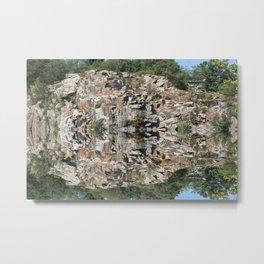 Flat Ledge Quarry Reflection Metal Print