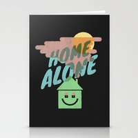 home alone Stationery Cards featuring Home Alone by Nick Nelson
