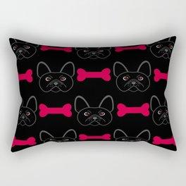 Bulldog Red Rectangular Pillow