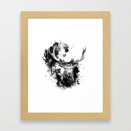 Once upon a Stag Framed Art Print