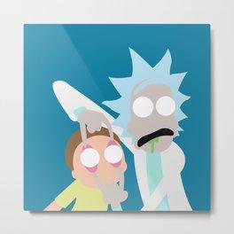 Rick & Morty Metal Print