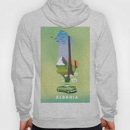Albania Map travel poster Hoody