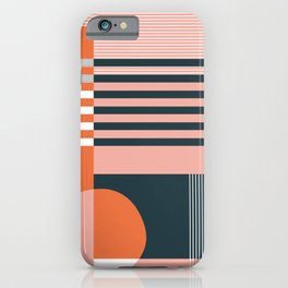 untitled 4 - red, pink, black & white shapes iPhone Case