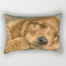Sleeping Puppy Rectangular Pillow