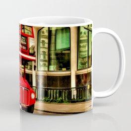 Trafalgar Square London Double Decker Bus Coffee Mug