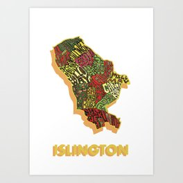 Islington - London Borough - Colour Art Print